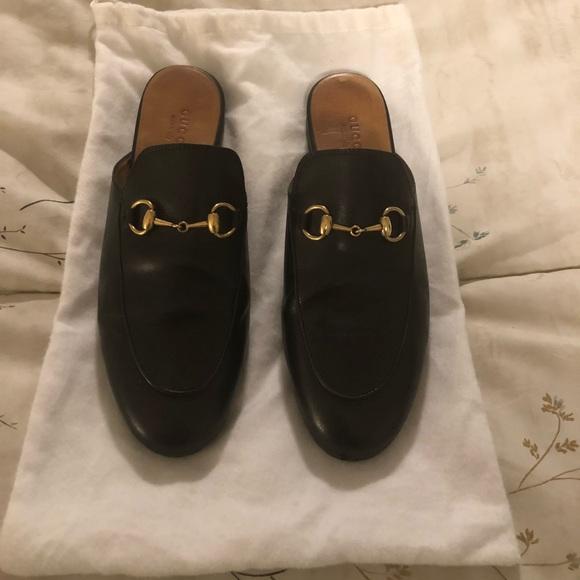 5573f2e188d Gucci Shoes - Gucci Princetown Black horsebit mule slipper flat